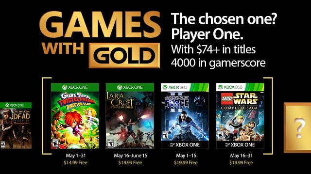 Anunciados los Games With Gold de mayo 1