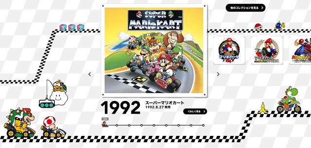Mira esta nueva web de Nintendo dedicada a la trayectoria de Mario Kart 1