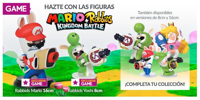 GAME contará con figuras exclusivas de Mario + Rabbids Kingdom Battle 1