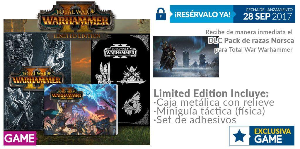 Total War Warhammer II cuenta con edición limitada exclusiva de GAME y regalo por reserva 1