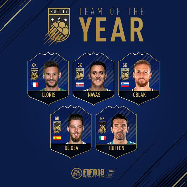Nominaciones equipo del año en FIFA 18 4