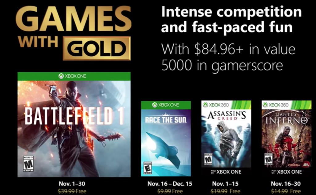 Battlefield 1 entra en los Games with Gold de noviembre