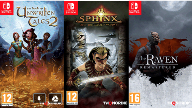 Anunciados The Book of Unwritten Tales 2, The Raven Remastered y Sphinx and the cursed Mummy para Switch