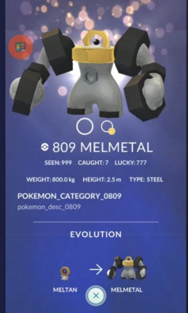 Se filtran estadísticas y movimientos de Meltan / Melmetal en Pokémon GO