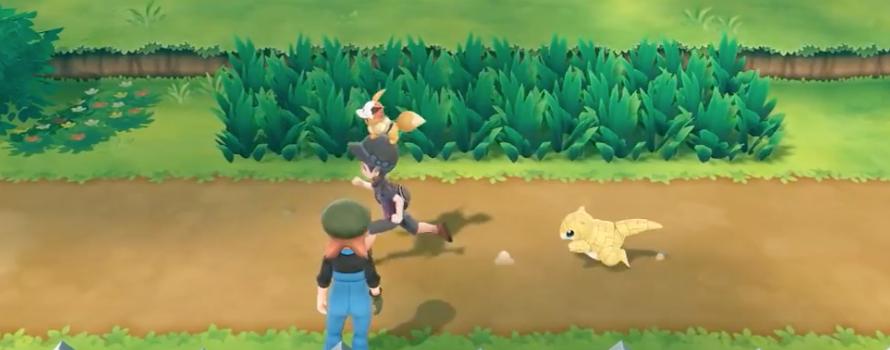 Así lucen todos los pokémon fuera de la pokéball en Pokémon Let's Go
