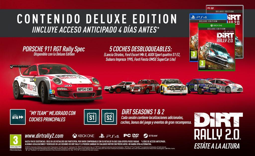 Codemasters anuncia las ediciones Day One y Deluxe de DiRT Rally 2.0