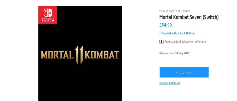 La versión de Nintendo Switch de Mortal Kombat 11 podría haber sido retrasada