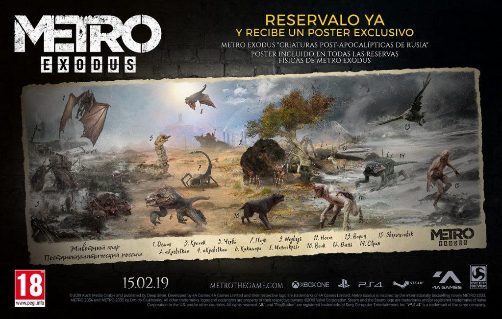 Se anuncia un póster exclusivo con la edición física de Metro Exodus