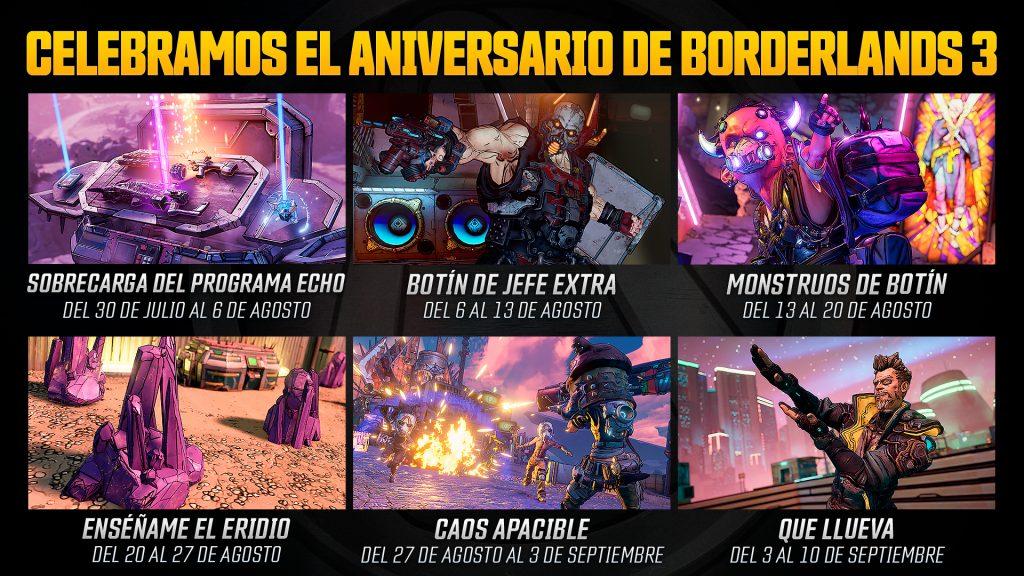 Borderlands 3 aniversario