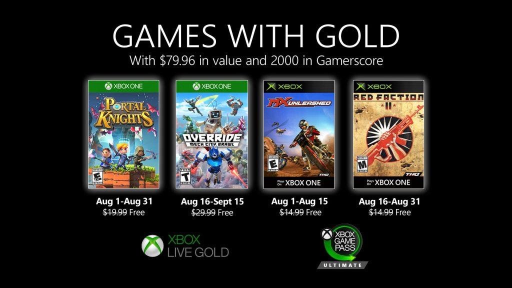 Games with Gold de agosto