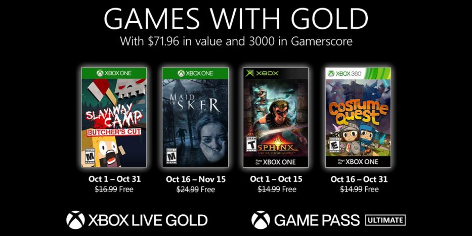 games with gold octubre 2020